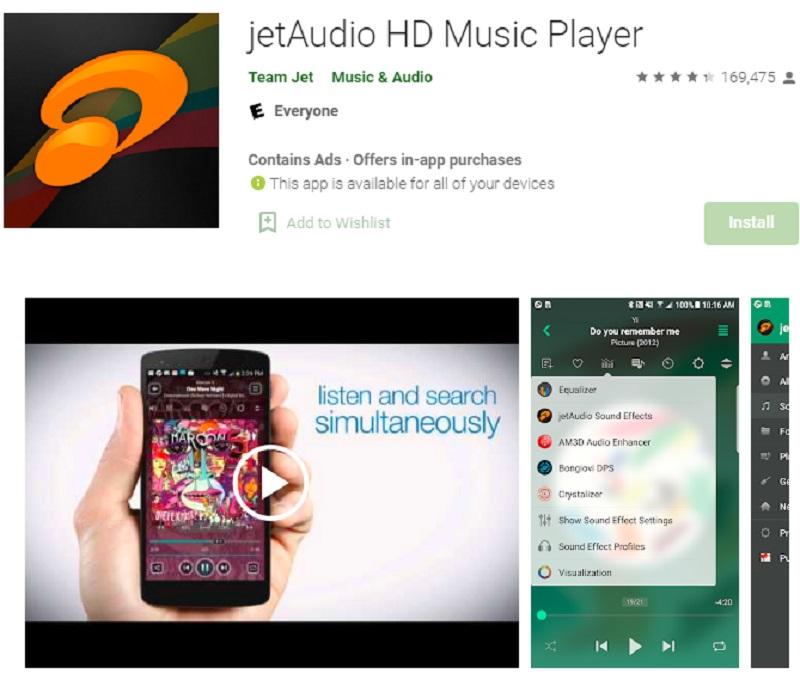 10 Aplikasi Pemutar Musik Android