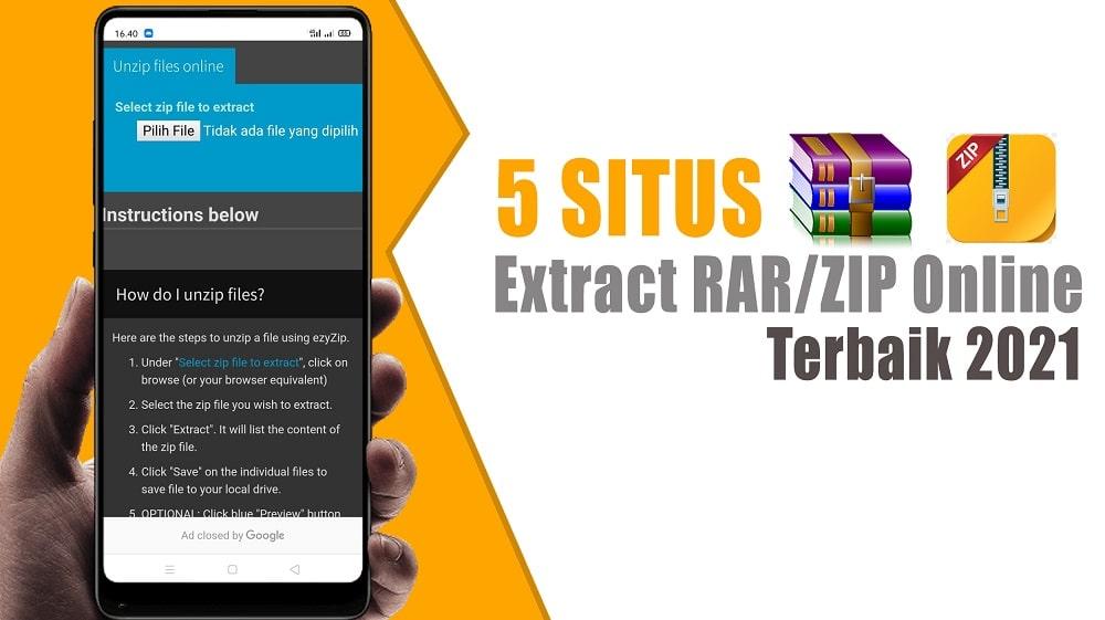 5 Situs Extract RAR/ZIP Online Terbaik 2021
