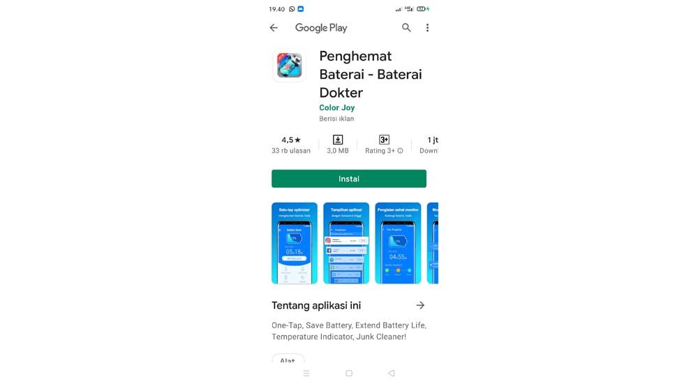 Aplikasi Penghemat Baterai Doktor