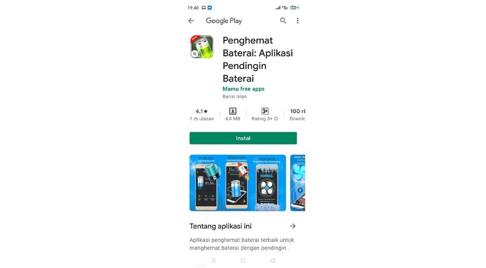 Aplikasi Penghemat Baterai Pendingin