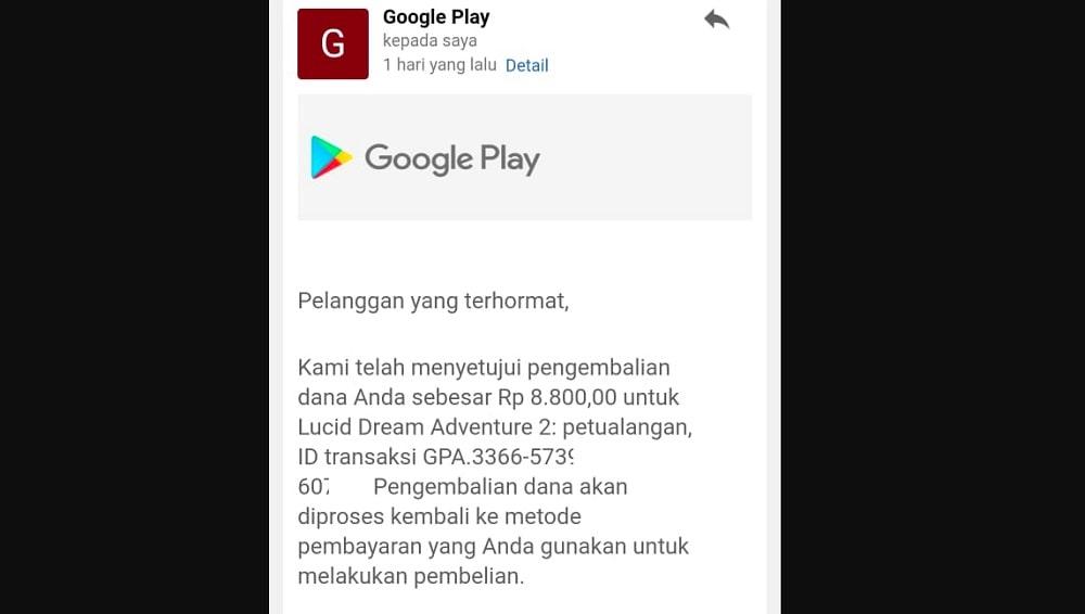 Cara Mengembalikan Dana di Play Store - Refund Pembelian Game