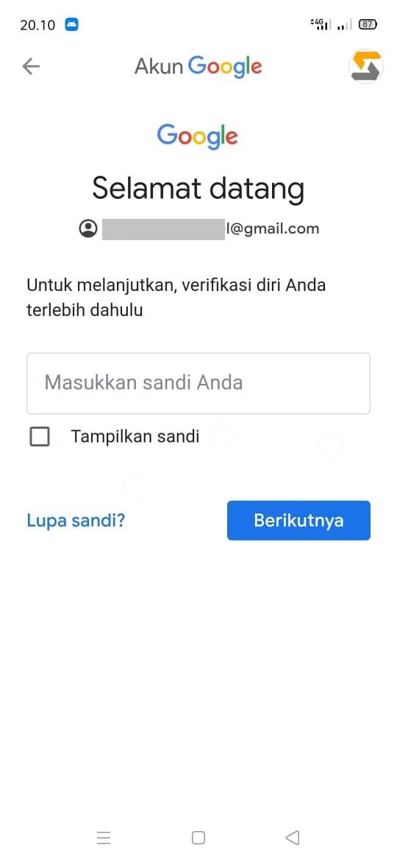 Cara hapus akun google di hp